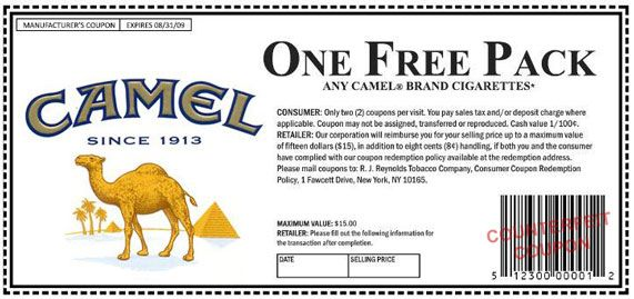 Promotional Discounts, Coupon Codes, and Deals on Camel CIgarettes