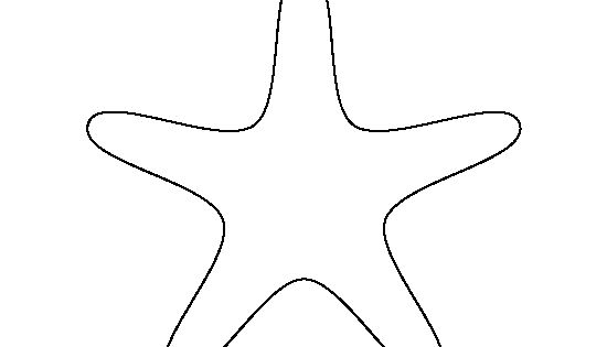 Starfish Pattern. Use The Printable Outline For Crafts