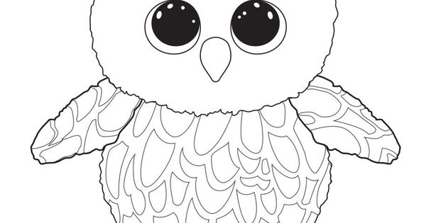 beanie boo coloring pages owls - photo#11
