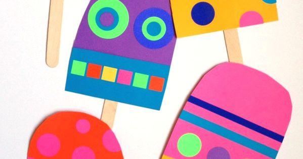 Giant Paper Popsicle Craft easycrafts summer