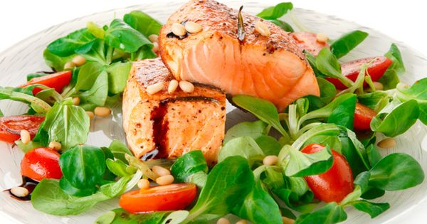 Pan Seared Salmon Salad | Recipe | Pan Seared Salmon, Protein Lunch ...
