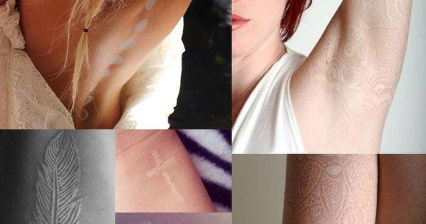 white tattoos.