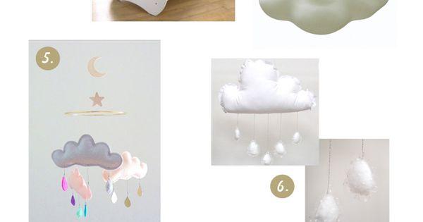 D co la t te dans les nuages romantique accessoire for Accessoire deco chambre