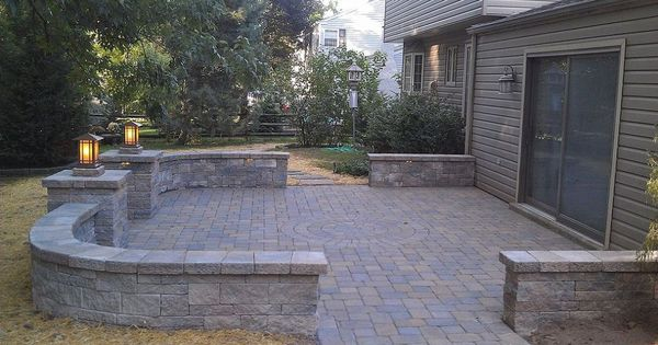Patio Paver Wall Ideas : Paver patio decks backyards and plants