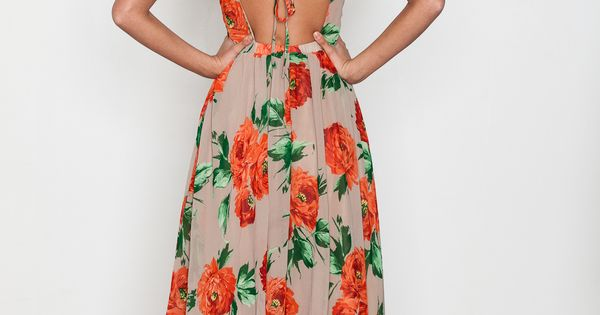 Stones - Floral Strappy Dress