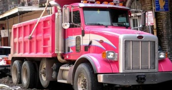 It S A Pink Dump Truck Enough Said Pink Truck Pink Wheels