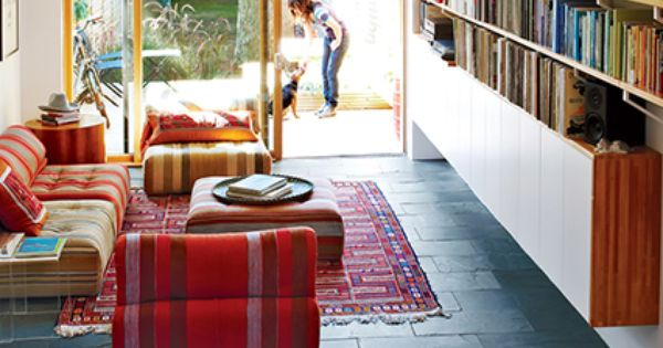 Dwell small space design ideas red pattern and tiny apartments - Dwell small spaces image ...