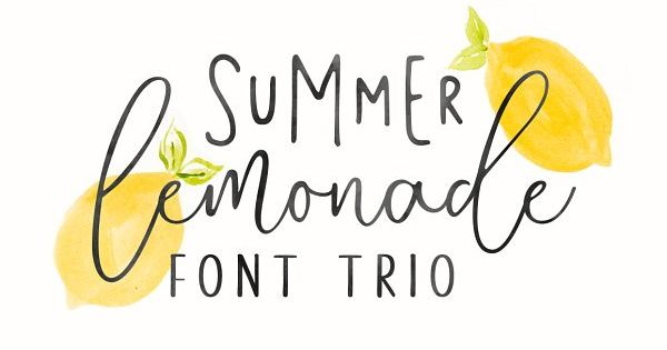 Summer Lemonade is a handwritten font trio, this font very easy to use and really playful