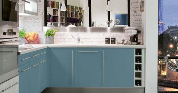 Cuisine Colorée Bleue Claire Cuisineplus | cuisine deco ...