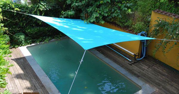voile d 39 ombrage rectangulaire de couleur lagoon de la. Black Bedroom Furniture Sets. Home Design Ideas