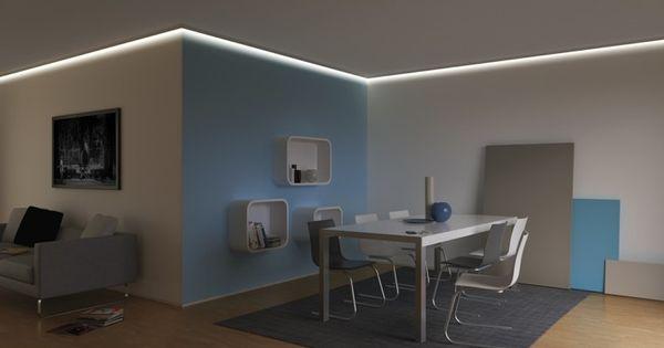 Iluminacion indirecta led salon en el techo comedor - Iluminacion indirecta led ...