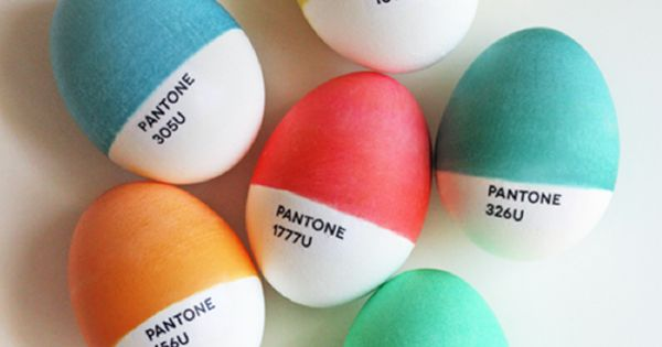 ...DIY Pantone Easter Eggs made by graphic designer and blogger Jessica Jones