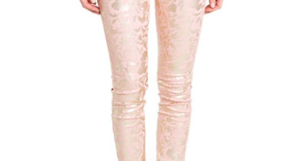 7 For All Mankind 'The Skinny' in Light Pink and Gold