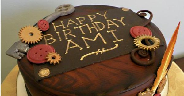 Cake Decorating Classes Raleigh Nc : Steampunk theme Birthday Cake Blue Note Bakery - Austin ...