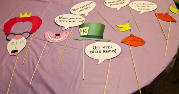 Mad hatter alice wonderland tea party theme baby shower for Mad hatter party props