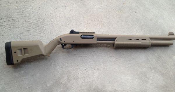 remington 870 tactical 12 gauge shotgun in fde flat dark