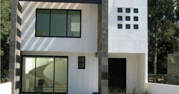 7 metros de frente acabados minimalistas blanco cantera for Acabados fachadas minimalistas