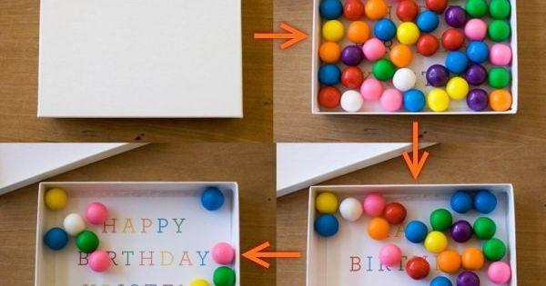 Оригинальный подарок подруге на день рождения со сладостями