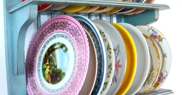 Vintage plate rack, these are awesome!