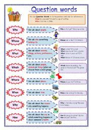 English Exercises: Wh-questions | Learn english, Wh ...