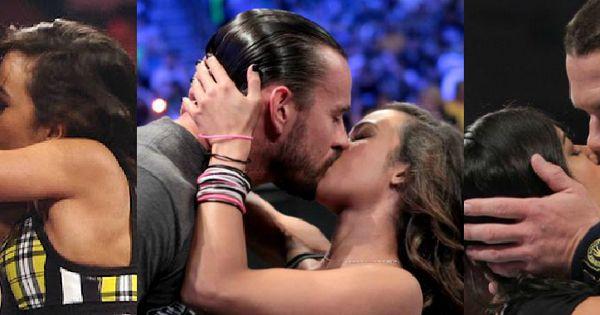 Aj S Kisses Of The Year Aj Daniel Bryan Aj Kane Aj Cm Punk