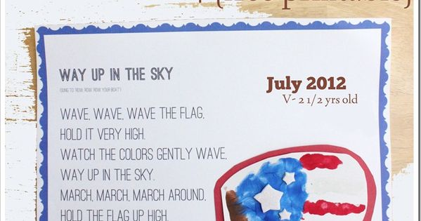 flag day poems songs