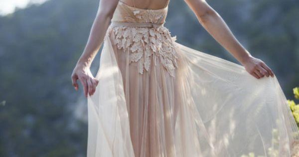 Blush Wedding Dress. Beautiful back. Lace back weddingdress blush details