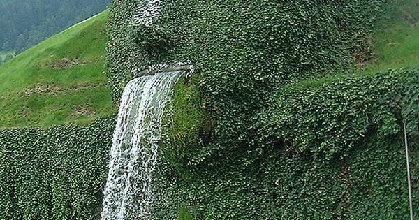 THE HILL GIANT ,WATTENS, AUSTRIA. This most unusual fountain feature is situated