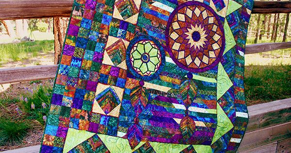 Unusual Quilting Ideas : This is a stunning quilt by Claudia Pfeil, master of unique quilt designs and fabrics! This ...
