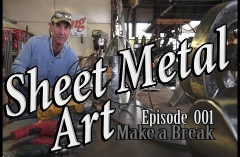 Sheet Metal Art For Beginners Ep 3 Grind Texture Finish