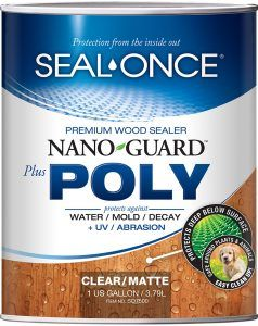 Seal Once Nano Poly Premium Wood Sealer For Siding Logs And Decks Wood Sealer Deck Sealer Wood Deck Stain