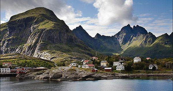 Trip in Lofoten islands in Norway landscape europe