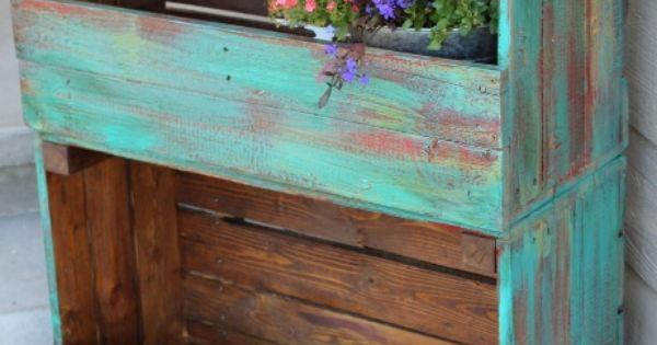 Estante para plantas de caixote de feira projetos para - Estantes para plantas ...