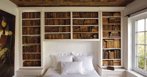 Book Nook Headboard My allergies would protest.... maybe for a guest room?