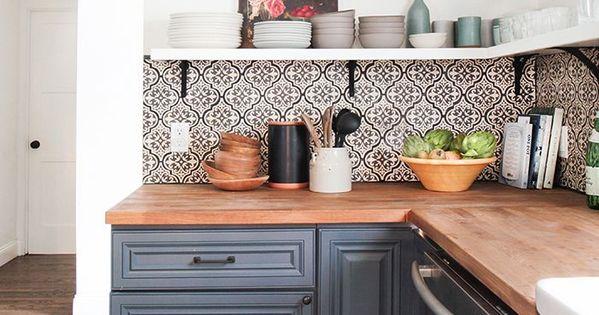 dosserets de cuisine 18 photos pour r nover la cuisine dosseret de cuisine de cuisine et. Black Bedroom Furniture Sets. Home Design Ideas