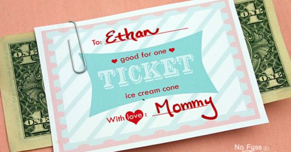 Printable ice cream cone coupon