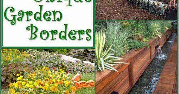 15 unique garden border and edging ideas garden borders for Unusual garden edging ideas