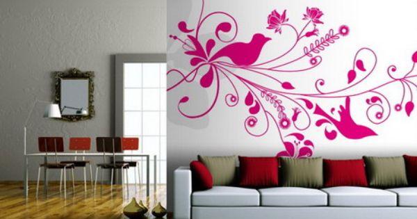 Hot pink living room hot pink roses wallpaper murals for Hot pink living room ideas