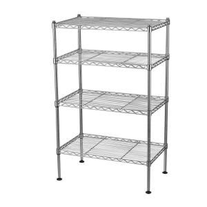 Sandusky 4 Shelf 20 In W X 32 In H X 12 In D Light Duty Wire Shelving Unit In Chrome Ws201232 C Wire Shelving Units Wire Shelving Shelving Unit