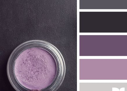 Gray and purple palette