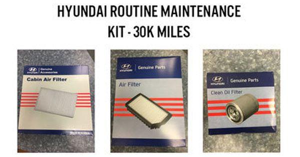 Hyundai Routine Maintenance Kit 30k Miles A077 Hyundai Maintenance Cabin Air Filter