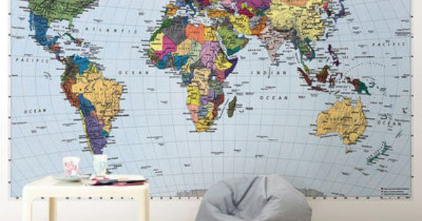 carte du monde papier peint sur ideias. Black Bedroom Furniture Sets. Home Design Ideas