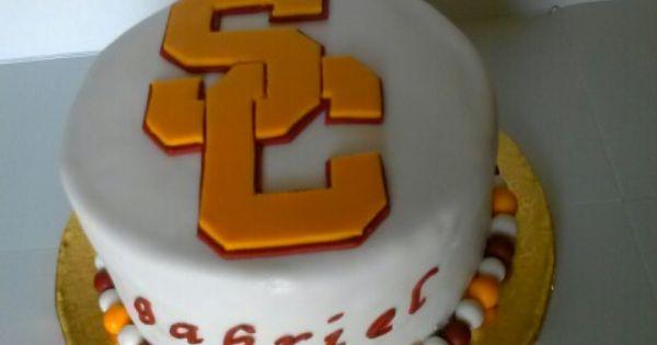 Usc Birthday Cake Images : USC Trojans Cake My Cake Designs Pinterest Cakes