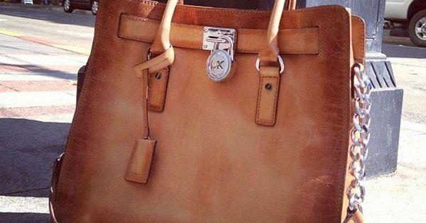 Handbag- Michael Kors 'Hamilton Artisan - Large Leather Tote