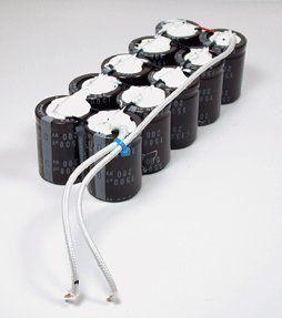 Capacitor Bank Capacitor Diy Generator Electronics Circuit