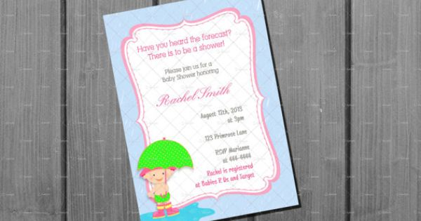 Baby Shower Invitation Card Printable by NorthernDesigns on Etsy, $9.00 | Handmade | Pinterest ...