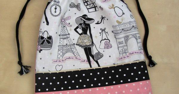 pochon sac pour ranger ses chaussures la parisienne en. Black Bedroom Furniture Sets. Home Design Ideas