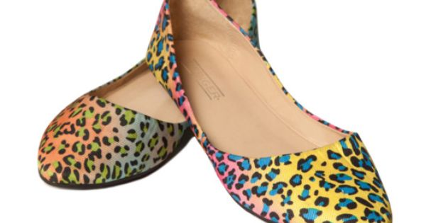 #Neon Leopard Flats by Fiebiger -- these remind me of the early