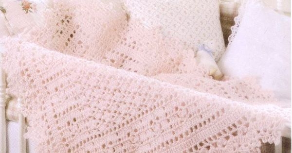 Crochet Pattern Pink Victorian Baby Blanket For Your Baby