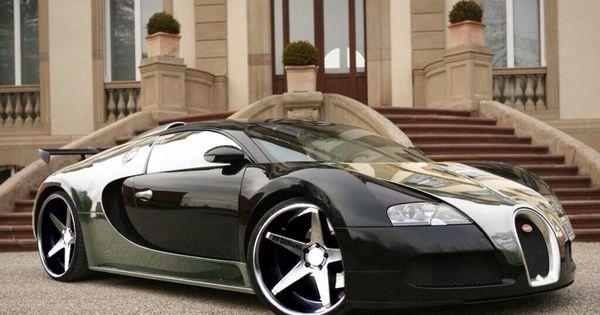 negro y cromado bugatti veyron coches interesantes. Black Bedroom Furniture Sets. Home Design Ideas